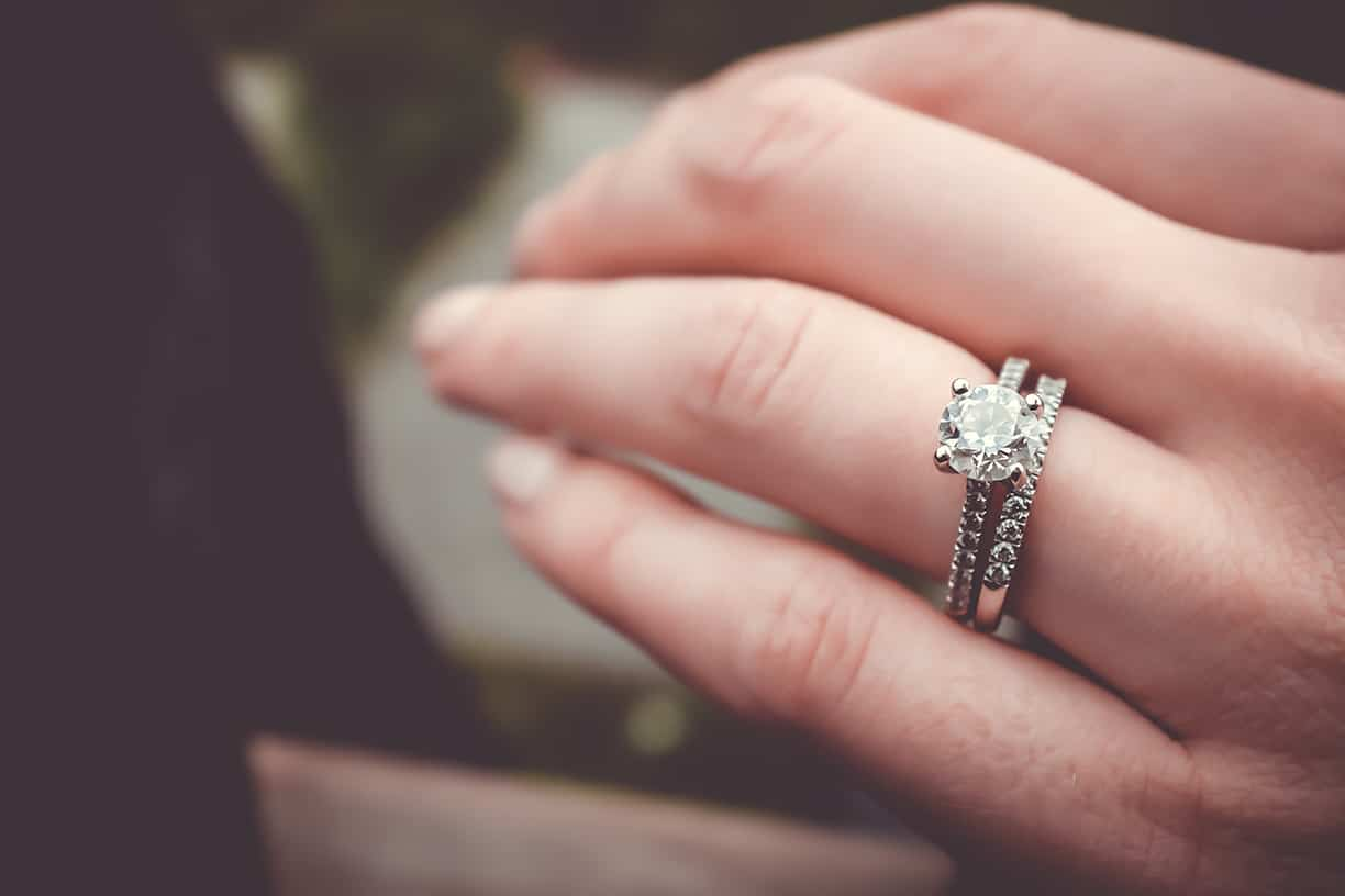 Customer Experience in trying on your engagement ring.