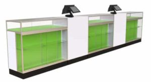 420 Display Cases incorporated into P.O.S. Display